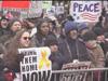 Peace rally in New York City featuring Richie Havens, Chief Arvol Looking Horse, Susan Sarandon, Rosie Perez, Reverend Al Sharpton, Martin Luther King Jr. III, Pete Seger, Archbishop Desmond Tutu, Harry Belafonte, Danny Glover